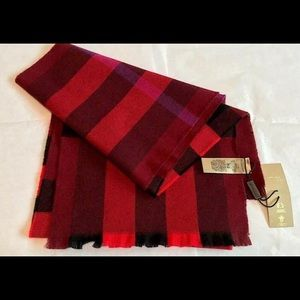 Burberry London lash fringe giant check scarf